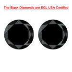 2.16 Cts of 5.84-5.77x4.41 mm / 5.90-5.79x5.00 mm Round Brilliant AA EGL USA Certified Loose Black Diamond