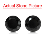 2.27 Cts of 5.90-5.86x4.97 mm / 5.83-5.80x4.92 mm Round Brilliant AA EGL USA Certified Loose Black Diamond
