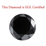 1.52 Cts of 6.82-6.71x5.05 mm EGL USA Certified AAA Round Brilliant ( 1 pc ) Loose Treated Fancy Black Diamond