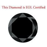 1.07 Cts of 6.00-5.90x4.45 mm EGL USA Certified AA Round Brilliant ( 1 pc ) Loose Treated Fancy Black Diamond