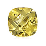 1.72-1.99 Cts of 8 mm AA Cushion Checker Board Loose Yellow Beryl ( 1 pc ) Gemstone
