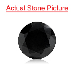 2.31 Cts of 7.56x7.65x5.94 mm EGL USA Certified AA Round Brilliant ( 1 pc ) Loose Treated Fancy Black Diamond