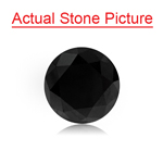 3.65 Cts of 8.75x8.63x7.20 mm EGL USA Certified AAA Round Brilliant ( 1 pc ) Loose Treated Fancy Black Diamond