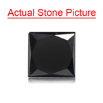 1.77 Cts of 6.10x5.85x4.97 mm EGL USA Certified AA Princess ( 1 pc ) Loose Treated Fancy Black Diamond