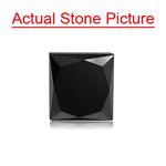 1.65 Cts of 5.73x5.50x5.10 mm EGL USA Certified AA Princess ( 1 pc ) Loose Treated Fancy Black Diamond