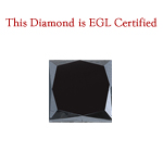 2.27 Cts of 6.70x6.59x5.74 mm EGL USA Certified AA Princess ( 1 pc ) Loose Treated Fancy Black Diamond
