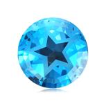 2.58-3.07 Cts of 8 mm Texas Star AAA Loose Swiss Blue Topaz ( 1 pcs ) Gemstone