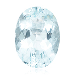 15.00-15.50 Cts of 18x13 mm AA Oval Loose Natural Sky Blue Topaz ( 1 pc ) Gemstone