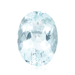 6.45-7.68 Cts of 14x10 mm AA Oval Loose Natural Sky Blue Topaz ( 1 pc ) Gemstone