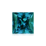 0.70-0.80 Cts of 5 mm AA Slightly included Princess Russian Lab created Alexandrite ( 1 pc ) Loose Gemstone