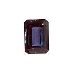 3.20-3.30 Cts of 9x7 mm AA Slightly included Emerald Russian Lab created Alexandrite ( 1 pc ) Loose Gemstone