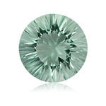9.80 Cts of 15 mm AA Round Concave Green Amethyst ( 1 pc ) Loose Gemstone