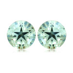 2.60-2.75 Cts of 7 mm AA Texas Star Green Amethyst Matched Pair ( 2 pcs ) Loose Gemstones