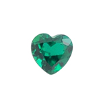 0.69-0.97 Cts of 6x6 mm AAA Heart Russian Lab Created Emerald ( 1 pc ) Loose Gemstone