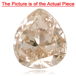 GIA Certified Natural Fancy Light Pink Brown (1pc) Diamond - 0.41 Cts - 5.16x4.54x2.46 mm VS2 Clarity Pear Modified Brilliant
