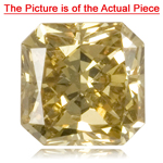 GIA Certified Natural Fancy Deep Brownish Yellow (1pc) Diamond - 0.43 Cts - SI1 Clarity Cut-Cornered Square Modified Brilliant