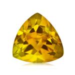 0.30-0.50 Cts of 5 mm AA Trillion Yellow Beryl ( 1 pc ) Loose Gemstone