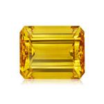 3.00-3.70 Cts of 11x9 mm AA Emerald Loose Yellow Beryl ( 1 pc ) Gemstone