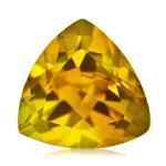 1.20-1.50 Cts of 8 mm AA Trillion Yellow Beryl (1 pc) Loose Gemstone