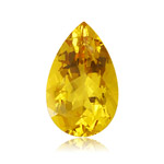 0.45-0.90 Cts of 8X5 mm AA Pear Yellow Beryl (1 pc) Loose Gemstone