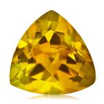 1.90 Cts of 9 mm AA Trillion Yellow Beryl ( 1 pc ) Loose Gemstone