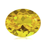 1.53-1.86 Cts of 9x7 mm AA Oval Yellow Beryl (1 pc) Loose Gemstone