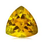 0.85-1.10 Ct of 7 mm AA Trillion Yellow Beryl ( 1 pc ) Loose Gemstone