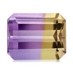 9.30 Cts of 12.5x15.6 mm AA Emerald Cut Bolivian Ametrine ( 1 pc ) Loose Gemstone