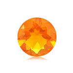 1/3 Cts of 5 mm AA Round Brazilian Fire Opal ( 1 pc ) Loose Gemstone
