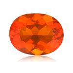1.95 Cts of 10x8 mm AA Oval Reddish Orange Color Brazilian Fire Opal ( 1 pc ) Loose Gemstone