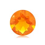 0.85 Cts of 7 mm AA Round Brazilian Fire Opal ( 1 pc ) Loose Gemstone