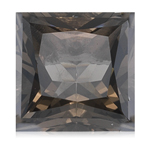4.20-4.50 Cts of 10x10 mm AA Princess Square Smokey Quartz ( 1 pc ) Loose Gemstone