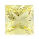 1.50 Cts of 7x7 mm AA Princess Lemon Citrine ( 1 pc ) Loose Gemstone