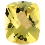 4.00-5.00 Cts of 12x10 mm AA Cushion Checker Board Lemon Citrine ( 1 pc ) Loose Gemstone