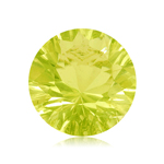 3.70 Cts of 10x10 mm AA Round Concave Lemon Citrine ( 1 pc ) Loose Gemstone