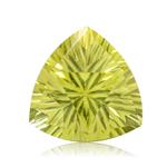 5.75 Cts of 12x12x12 mm AA Trillion Concave Lemon Citrine ( 1 pc ) Loose Gemstone
