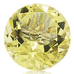 1.45-1.95 Cts of 8x8 mm AA Round Lemon Citrine ( 1 pc ) Loose Gemstone