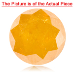 1.99-2.00 Cts of 7.5x7.5 mm I3 quality Round Natural Brownish Golden Yellow Diamond ( 1 pc ) Loose Diamond