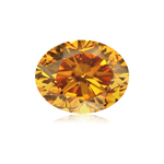 GIA Certified Natural Fancy Deep Brownish Orangy Yellow (1pc) Loose Diamond - 0.46 Cts - I1 Clarity Oval Brilliant