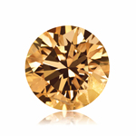 GIA Certified Natural Fancy Brown-Yellow (1pc) Loose Diamond - 0.48 Cts - I1 Clarity Round Brilliant
