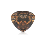GIA Certified Natural Fancy Dark Orangy Brown (1pc) Loose Diamond - 0.49 Cts - 4.63x5.44x3.24 mm VS2 Clarity Modified Heart Brilliant