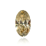 GIA Certified Natural Fancy Brownish Greenish Yellow (1pc) Loose Diamond - 0.45 Cts - SI2 Clarity Oval Modified Brilliant