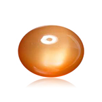 2.75 Cts of 10x8 mm AAA Oval Cabochon Peach Moonstone ( 1 pc ) Loose Gemstone