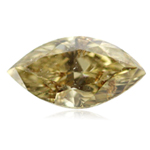 0.87 Cts of 7.85x4.48x3.84 mm GIA Certified I1 quality Marquise Brilliant Fancy Brownish Yellow ( 1 pc ) Loose Diamond