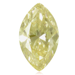 GIA Certified Natural Fancy Yellow (1pc) Diamond - 0.32 Cts - I1 Clarity Marquise Brilliant