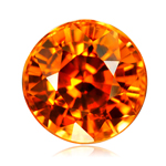 7 mm AAA Round Synthetic Spessartite ( 1 pc ) Loose Gemstone
