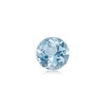 0.18-0.27 Cts of 4 mm AA Round Genuine Natural Aquamarine ( 1 pc ) Loose Gemstone