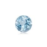 0.75-0.95 Cts of 6.5 mm AA Round Genuine Natural Aquamarine ( 1 pc ) Loose Gemstone