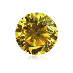 GIA Certified Natural Fancy Deep Brownish Greenish Yellow (1pc) Loose Diamond - 0.50 Cts - SI1 Clarity Round Modified Brilliant