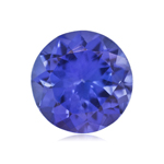 0.65-1.10 Cts of 6 mm AAAA ( Heirloom ) Round Genuine Natural Arusha Tanzanite ( 1 pc ) Loose Gemstone